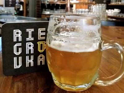 Wycieczka na piwo do Czech, kufel jasnego piwa w minibrowarze