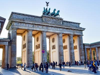 Wycieczka piwna do Berlina, widok na Bramę Brandenburską.