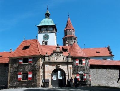 Wyjazd firmowy na piwo Czechy, widok na zamek Bouzov