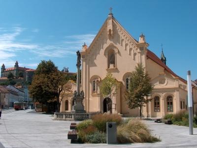 Wycieczka winiarska na Słowację. Kościół w Bratysławie