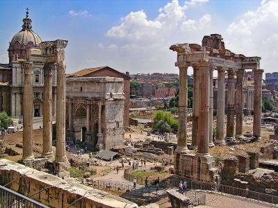 Rzym - wycieczka dla grup autokare. Widok na Forum Romanum