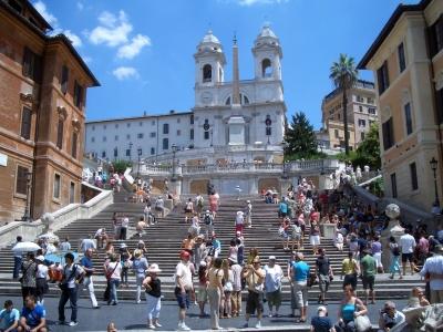 Rzym - wycieczka dla grup. Widok na Schody Hiszpańskie