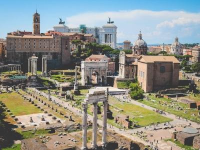 Rzym - wyjazd firmowy. Widok na Forum Romanum