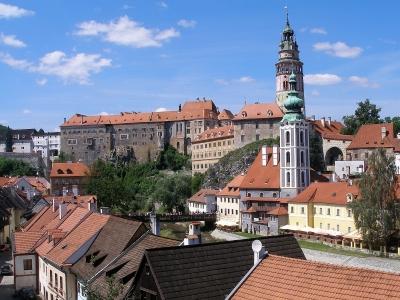 Wycieczka do Czeskiego Krumlova - widok na zamek