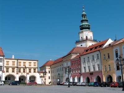 Wycieczka do Kromieryża. Widok na pałac i rynek