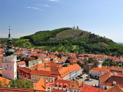 Wycieczka do Mikulova na Morawy Południowe - widok na miasto