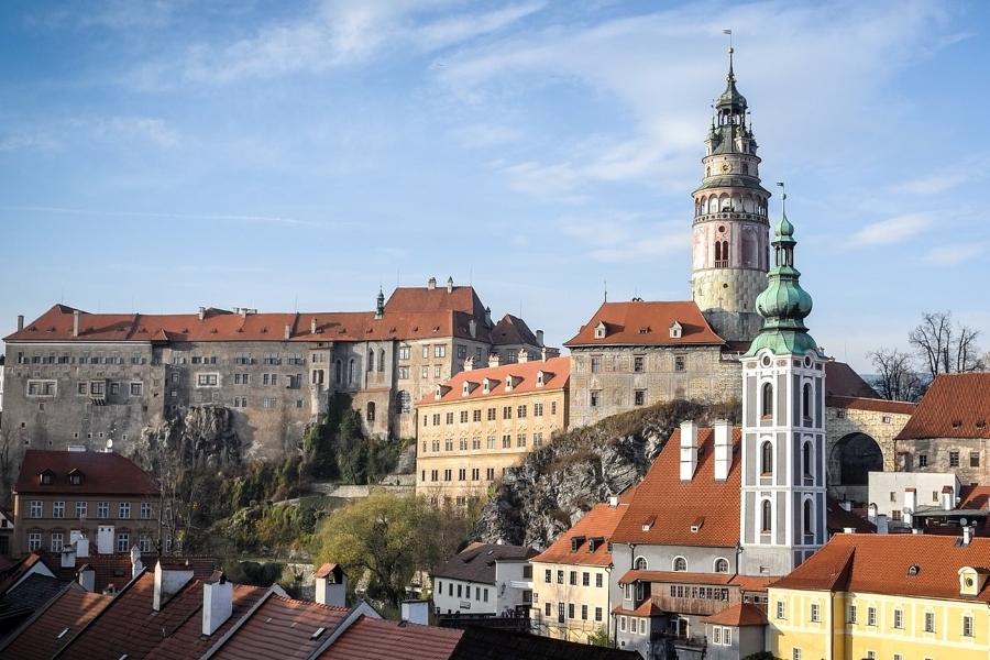 Wycieczki do Czech szlakiem zamków. Widok na Czeski Krumlov