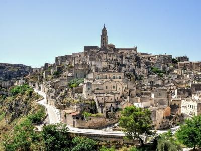 Apulia wycieczka dla grup i firm. Widok na miasto Matera.