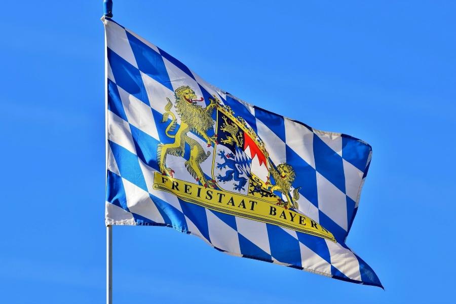 flaga kraju związkowego Bawaria