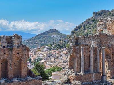Sycylia wycieczka firmowa. Ruiny amfiteatru w Taormina